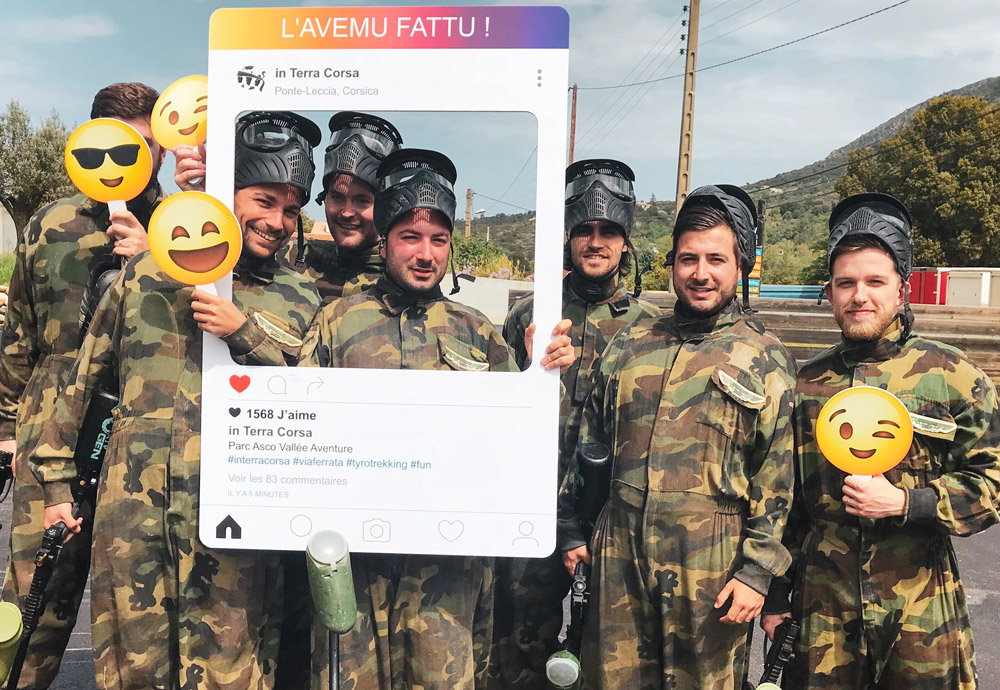 paintball corse friends